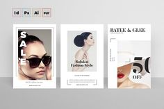 Postcard Flyers Fashion Templates Fashion Postcard**INCLUDE**- In Size- bleed- All File Is Vector Element and Fully Edi by TimphanCo Postcard Layout, Postcard Template, Postcard Design, Card Templates, Design Templates, Flyer Template, Web Design, Flyer Design, Tool Design