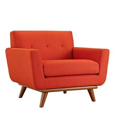 Look at this Atomic Red Engage Armchair on #zulily today!