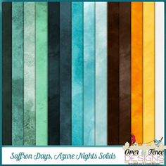 Saffron Days - Azure Nights Solid Papers - Patty and Diane created a romantic…
