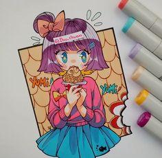 Kawaii Chan, Kawaii Anime, Beautiful Drawings, Cute Drawings, Copic Marker Drawings, Copic Markers, Dibujos Anime Chibi, Copic Art, Art Poses