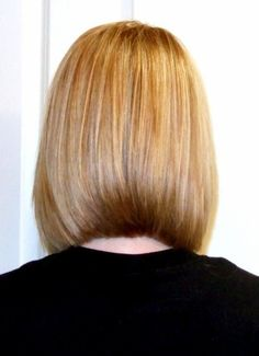 Blunt Shoulder length  Bob back view.