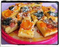 Ciasto z mąki kokosowej z owocami i konfiturą - Coconut Flour Fruit Cake - Torta alla farina di cocco con la frutta
