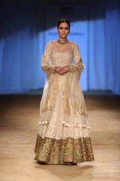 Rimple & Harpreet Narula at India Couture Week 2014 - bridal gold lehnga