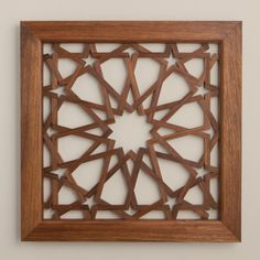 Al Shams lattice panel is inspired by century Mamluk architecture from Cairo, Egypt. This pattern once decorated a pair of minbar doors in the Mosque of Emir Sayf al-Din Qawsun. Geometric Patterns, Wall Patterns, Geometric Designs, Geometric Art, Islamic Art Pattern, Arabic Pattern, Pattern Art, Cnc Cutting Design, Plafond Design