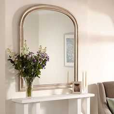 Buy Champagne John Lewis Overmantle Mirror, 120 x from our Mirrors range at John Lewis. John Lewis Overmantle Mirror, Lounge Mirrors, Home Living Room, Living Room Decor, Mirror Above Fireplace, Cottage Lounge, Georgian Interiors, Arch Mirror, Victorian Bedroom