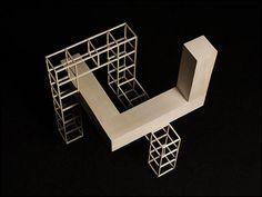 Verl Ancel Adams Concept Models Architecture, Architecture Drawing Art, Facade Architecture, School Presentation Ideas, Geometric Sculpture, Composition Art, Building Images, 3d Modelle, Arch Model