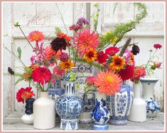 marieke nolsen Happy Flowers, Bunch Of Flowers, Fresh Flowers, Beautiful Flowers, Bloom Blossom, Art Of Beauty, Centerpieces, Table Decorations, Dahlia