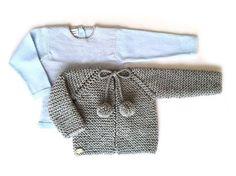 Cómo calcular los puntos para tejer una prenda Baby L, Bebe Baby, Baby Knitting Patterns, Crochet Baby, Knit Crochet, Baby Crafts, Baby Sweaters, Knitting Projects, Kids Fashion
