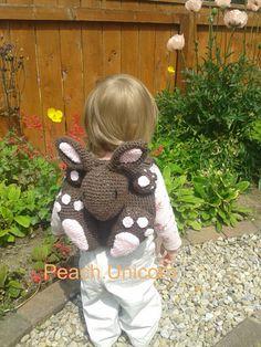 Amigurumi- Bobby the Bunny Rabbit Backpack / bag Crochet Pattern for a crochet beginner on Etsy, $3.05