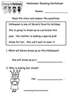 easily print our halloween reading worksheet right in your browser it is a free kindergarten holiday worksheet - Free Halloween Reading Comprehension Worksheets