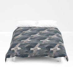 Seagull flying over Arctic Ocean Duvet Cover by Pertti Kangasniemi Seagulls Flying, Arctic, Duvet Covers, Comforters, Nature Photography, Ocean, Blanket, Bed, Furniture
