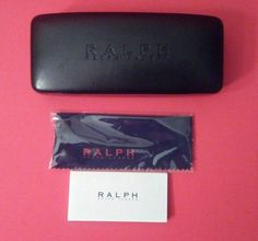RALPH LAUREN EYEGLASSES HARD CASE SUNGLASSES CLEANING CLOTH BLACK EYEWEAR CASE | Health & Beauty, Vision Care, Eyeglass Cases | eBay!
