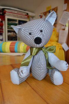 Macko hračka   Chránená dielňa Prvosienka #šitéhračky #handmadetoys #softtoys Teddy Bear, Toys, Animals, Activity Toys, Animales, Animaux, Clearance Toys, Teddy Bears, Animal