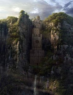 Castle in the Green Cliffs by Yong Park