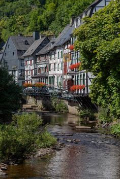 ღღ Picture is showing the typical old architecture of this houses at Monschau, Eifel/Germany
