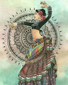 Ideas Belly Dancing Drawing Dancers For 2019 Dancing Drawings, Art Drawings, Dance Paintings, Art Articles, India Art, Tribal Belly Dance, Tribal Fusion, Dance Art, At Least