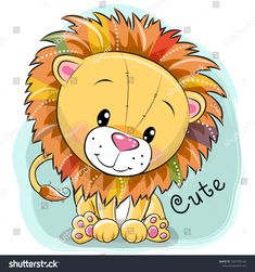 Belly Painting, Lion Painting, Lion Cartoon Drawing, Cartoon Drawings, Easy Drawings, Cute Cartoon Pictures, Cute Images, Drawing For Kids, Art For Kids