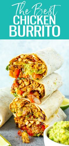 Pulled Chicken Burrito Recipe, Pulled Chicken Recipes, Chicken Burritos, Easy Burrito Recipe, Recipe For Burritos, Healthy Burritos, Chicken Quesadillas, Healthy Meal Prep, Healthy Recipes