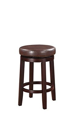 Stratmoor Brown Swivel Counter Bar Stool Stools And
