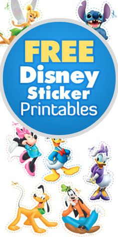 Free Disney Sticker Printables