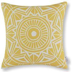 Euphoria Home Decor Cushion Covers Pillows Shell Cotton Linen Blend Compass Geometric Yellow Color 45cm X 45cm