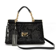 dolce and gabbana handbags | Dolce and Gabbana New Lambklin Leather Handbags with Lace 7827