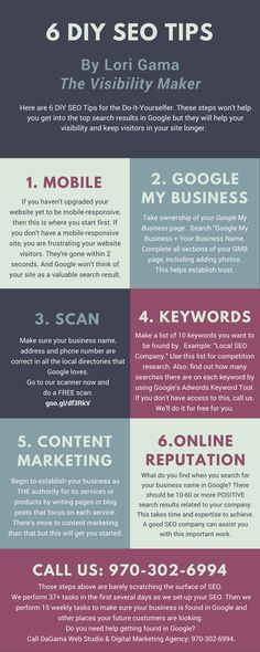 Here are Six DIY SEO Tips that any business owner can easily implement on their own. These tips are just the tip of the SEO iceberg. But by taking these steps, you'll be that much further along without spending anything but your time. Notice that most of these tips are related to having the social proof that your company is trustworthy.