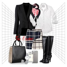 """Week day #2"" by tais-escobar ❤ liked on Polyvore featuring Alexander McQueen, 10 Crosby Derek Lam, Miss Sixty, Jil Sander, Native Union, Chanel, Longines, Kate Spade and Gucci"