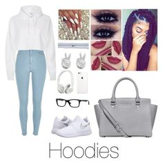 """""""who doesn't love hoodies"""" by cams-cloud on Polyvore featuring River Island, NIKE, Rock 'N Rose, Michael Kors, Beats by Dr. Dre and Ray-Ban"""
