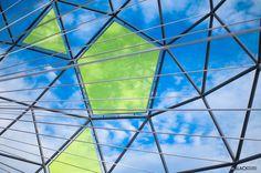 Globe shaped metallic sculpture Oslo Norway www.BlackStudio.eu