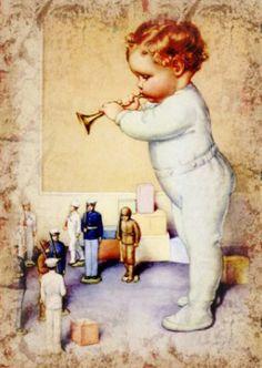 Vintage baby postcard • http://holycomfort.blogspot.com/2011_04_01_archive.html