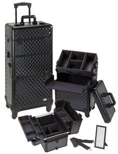Pro Aluminum Makeup Case Black Diamond 4 Wheeled Spinner, only $169.95 plus free shipping!