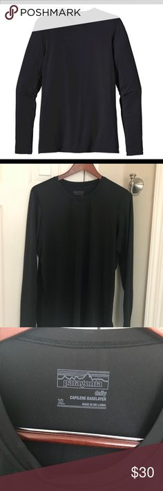 Like New Patagonia Capilene Base Patagonia 2017 Capilene Base Tee Like New Excellent Condition. Worn once. Polyester/spandex blend for superior stretch and moisture management. Smooth jersey face is comfortable against the skin. 140 g (5 oz).4-oz 94% polyester (35% recycled)/6% spandex jersey with Polygiene® permanent odor control. Patagonia Tops Tees - Long Sleeve