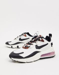 Shop the latest Nike Air Max 270 React cream and Tortoise Shell sneakers trends with ASOS! New Nike Air, Nike Air Max, Air Max Sneakers, Sneakers Nike, Air Max 270, Tortoise Shell, Sneakers Fashion, Asos, Cream