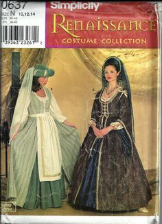Ladies Medieval Renaissance Costume Pattern by DawnsDesignBoutique, $8.99