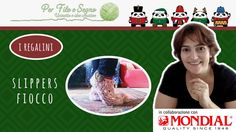 Speciale Natale - Slippers Fiocco #crochet slippers #mondial #calzini #uncinetto #fiocco #crochet #idee natale #natale uncinetto