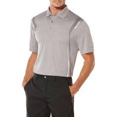 Ben Hogan Big Men's Golf Performance Skeletal Pigment Short Sleeve Polo Shirt, Gray
