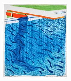David Hockney (b. 1937)   Pool made with Paper and Blue Ink for a Book (Tokyo 234)   lithograph in colours, 1980