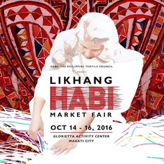 Check out Likhang HABI Market Fair 2016!  The 6th Habi Market Fair showcasing traditional Philippine weaves will reveal the amazing development of locally-woven products!  This event is happening on October 14 - 16, 2016 at the Glorietta Activity Center in Makati.  For more promo deals, VISIT http://mypromo.com.ph/! SUBSCRIPTION IS FREE! Please SHARE MyPromo Online Page to your friends to enjoy promo deals!
