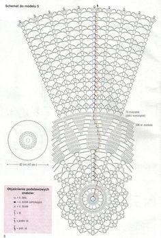 Scheme crochet no. Crochet Tablecloth Pattern, Crochet Doily Diagram, Crochet Rug Patterns, Doily Patterns, Crochet Chart, Filet Crochet, Crochet Stitches, Crochet Dollies, Pineapple Crochet