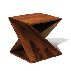 Winding Wood Side Table