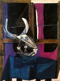 Pablo Picasso (1942) - Nature morte avec cràne de boeuf #picasso #art