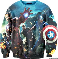 The Avengers Sweatshirt. I can't decide if I should put this on my Marvel board or my Fashion board.