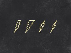 Lightning Bolts by Dustin M Myers on Dribbble Ass Tattoo, Piercing Tattoo, Symbol Tattoos, Tatoos, Blitz Tattoo, Lightning Bolt Tattoo, Lightning Storms, Tattoo Symbole, Totenkopf Tattoos