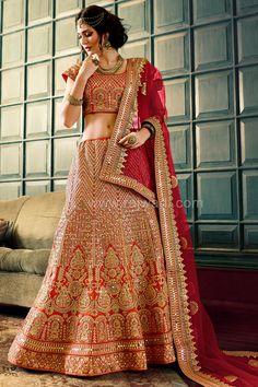a27783f0899e Designer Rust Coloured Lehenga Choli #RoyalLook #LehengaCholi #Unstitched  Lehenga Raw Silk Lehenga,. Raw Silk LehengaIndian Bridal ...