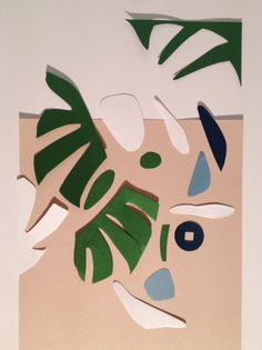 Paper cuttings and leaves, lanemarinho