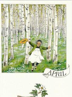 April (K50-587) ansichtkaart