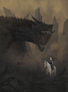 Drogon and Daenerys Targaryen, Jairo Apolo on ArtStation at https://www.artstation.com/artwork/gXDYm