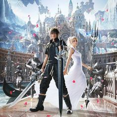 (*** http://BubbleCraze.org - If Tetris and Bubble Shooter had a kid, this would be it! ***)  Noctis and Luna in Atissia