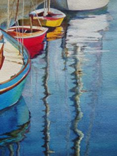 Line UP - Wooden Boat Paintings by Janne Matter